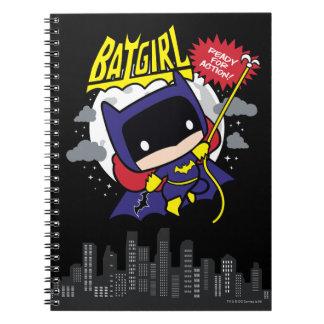 Chibi Batgirl bereit zur Aktion Spiral Notizblock