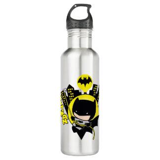 Chibi Batman, der die Stadt einstuft Edelstahlflasche