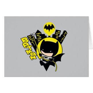Chibi Batman, der die Stadt einstuft Karte