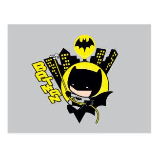 Chibi Batman, der die Stadt einstuft Postkarte
