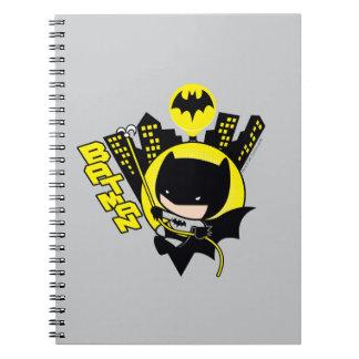 Chibi Batman, der die Stadt einstuft Spiral Notizblock