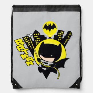 Chibi Batman, der die Stadt einstuft Sportbeutel