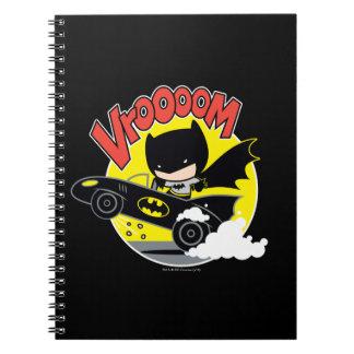 Chibi Batman im Batmobile Notizblock