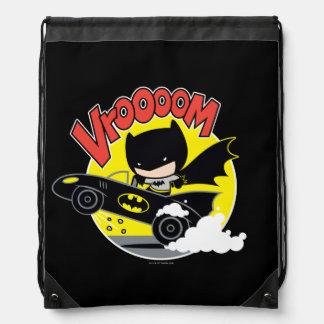 Chibi Batman im Batmobile Sportbeutel