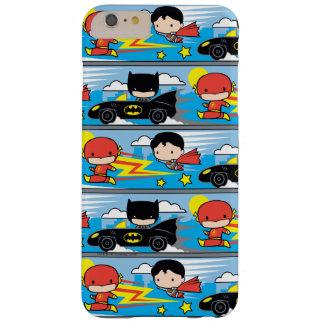 Chibi Blitz, Supermann und Batman, der Muster Barely There iPhone 6 Plus Hülle