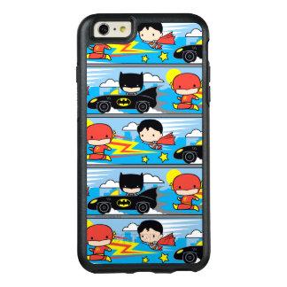 Chibi Blitz, Supermann und Batman, der Muster OtterBox iPhone 6/6s Plus Hülle