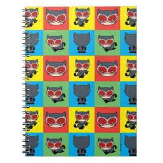 Chibi Catwoman-Charakter-Posen Notizblock