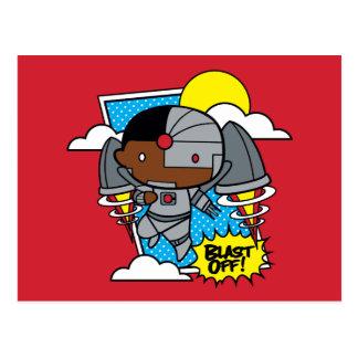 Chibi Cyborg starten weg! Postkarte