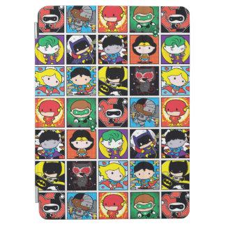 Chibi Gerechtigkeits-Liga-Charakter-Muster iPad Air Cover