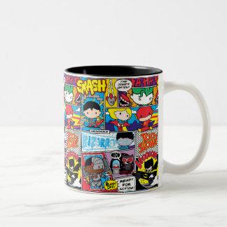 Chibi Gerechtigkeits-Liga-Comic-Buch-Muster Zweifarbige Tasse