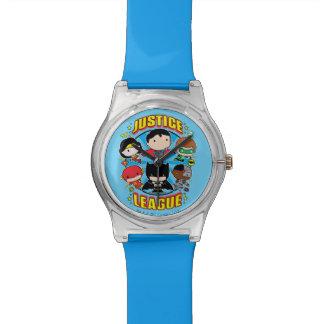 Chibi Gerechtigkeits-Liga-Gruppe Armbanduhr