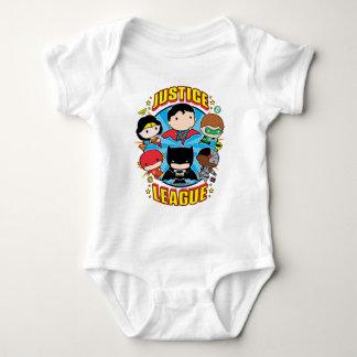Chibi Gerechtigkeits-Liga-Gruppe Baby Strampler