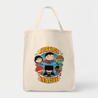 Chibi Gerechtigkeits-Liga-Gruppe Einkaufstasche