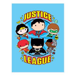 Chibi Gerechtigkeits-Liga-Gruppe Postkarte