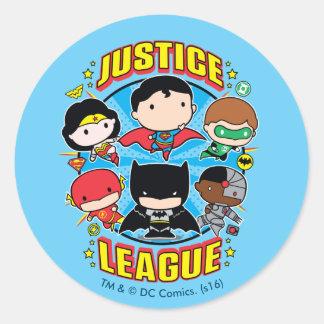 Chibi Gerechtigkeits-Liga-Gruppe Runder Aufkleber