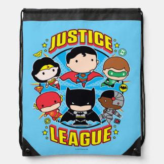 Chibi Gerechtigkeits-Liga-Gruppe Turnbeutel
