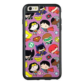 Chibi Gerechtigkeits-Liga-Muster auf Lila OtterBox iPhone 6/6s Plus Hülle