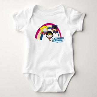 Chibi Gerechtigkeits-Liga-Regenbogen Baby Strampler