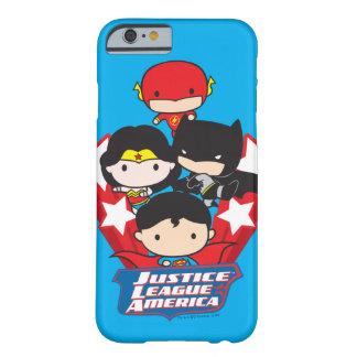 Chibi Gerechtigkeits-Liga von Amerika-Sternen Barely There iPhone 6 Hülle