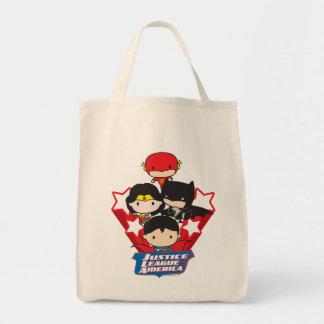 Chibi Gerechtigkeits-Liga von Amerika-Sternen Einkaufstasche