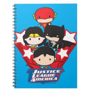 Chibi Gerechtigkeits-Liga von Amerika-Sternen Notizblock