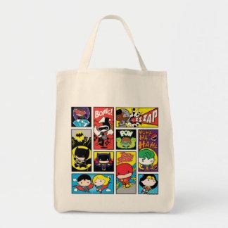 Chibi Gerechtigkeits-Liga-Zusammenstellungs-Muster Einkaufstasche