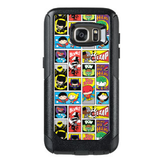 Chibi Gerechtigkeits-Liga-Zusammenstellungs-Muster OtterBox Samsung Galaxy S7 Hülle