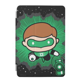 Chibi grünes Laternen-Fliegen durch Raum iPad Mini Cover