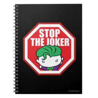 """Chibi """"Halt der Joker-"""" Zeichen Notizblock"""