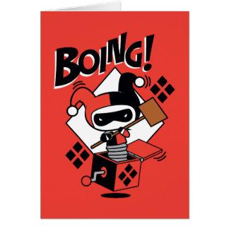 Chibi Harley-Quinn-In-EIN-Box mit Hammer Karte