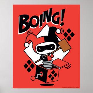 Chibi Harley-Quinn-In-EIN-Box mit Hammer Poster