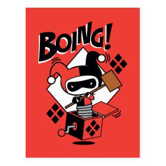 Chibi Harley-Quinn-In-EIN-Box mit Hammer Postkarte