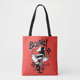Chibi Harley-Quinn-In-EIN-Box mit Hammer Tasche