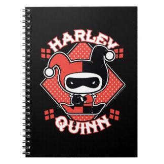 Chibi Harley Quinn Spalten Spiral Notizblock