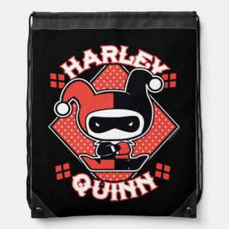 Chibi Harley Quinn Spalten Turnbeutel