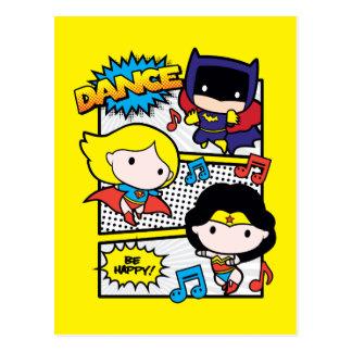 Chibi Held-Tanzen Postkarte