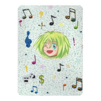 Chibi Izumi Comic-Spaß-Einladungs-Karten 12,7 X 17,8 Cm Einladungskarte