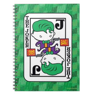 Chibi Joker-Spielkarte Spiral Notizblock