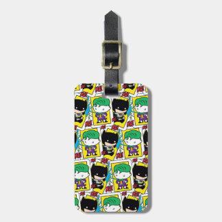 Chibi Joker-und Batman-Spielkarte-Muster Kofferanhänger