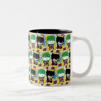Chibi Joker-und Batman-Spielkarte-Muster Zweifarbige Tasse
