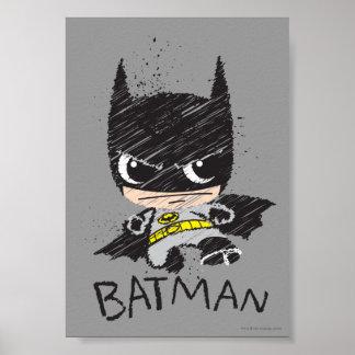 Chibi klassische Batman Skizze Poster