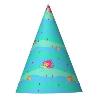 Chibi Meerjungfrau- u. Seepferdpapierhut Partyhütchen
