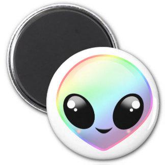 Chibi Regenbogen-alien Runder Magnet 5,7 Cm
