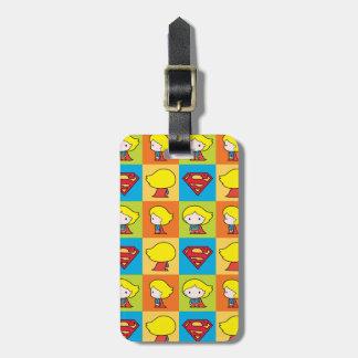 Chibi Supergirl Charakter-Rücklauf Gepäckanhänger