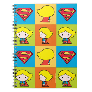 Chibi Supergirl Charakter-Rücklauf Spiral Notizblock