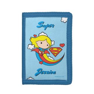 Chibi Supergirl Fliegen-Regenbogen