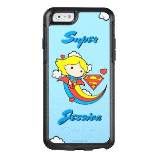 Chibi Supergirl Fliegen-Regenbogen OtterBox iPhone 6/6s Hülle
