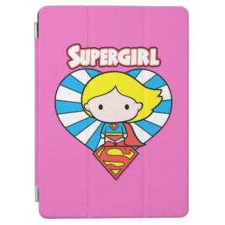 Chibi Supergirl Sternexplosion-Herz und Logo iPad Air Cover