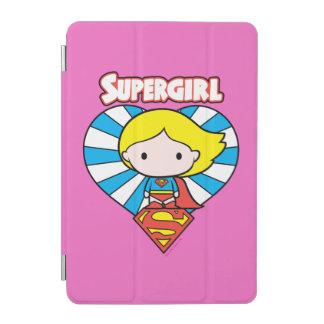 Chibi Supergirl Sternexplosion-Herz und Logo iPad Mini Hülle