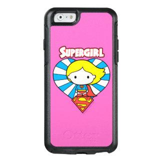Chibi Supergirl Sternexplosion-Herz und Logo OtterBox iPhone 6/6s Hülle